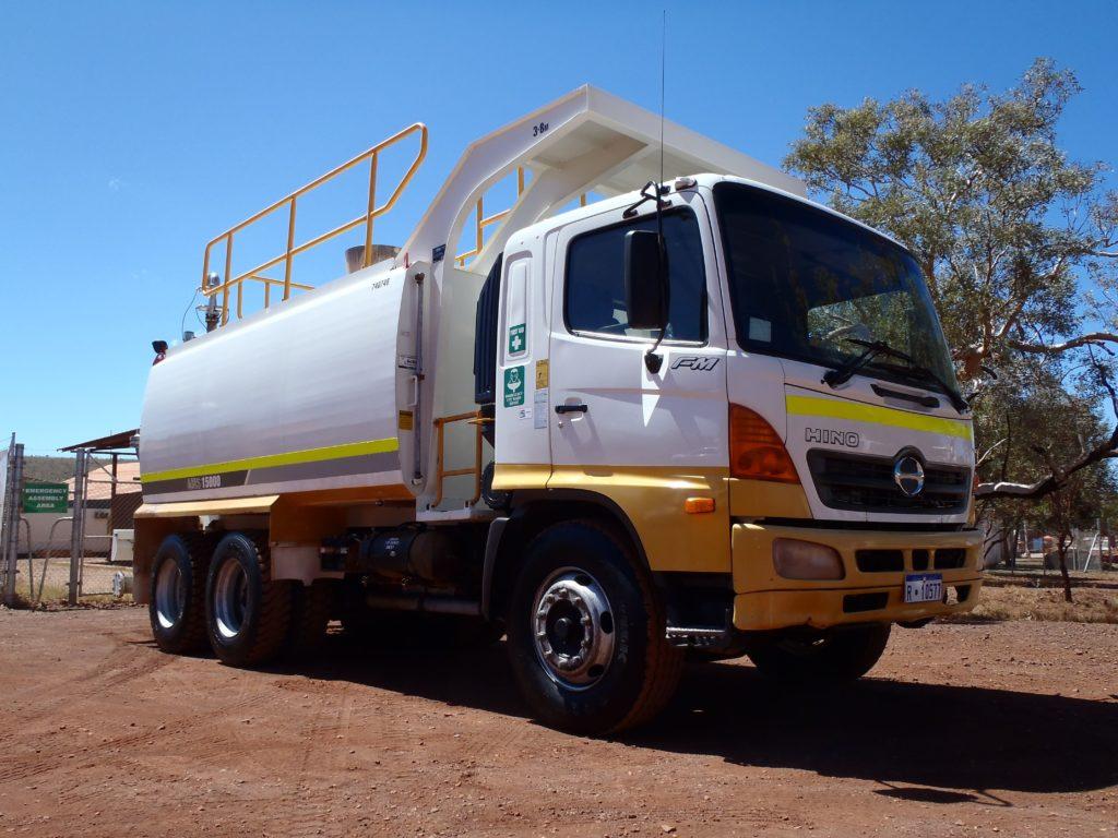 Maintenance Truck on dirt gravel road