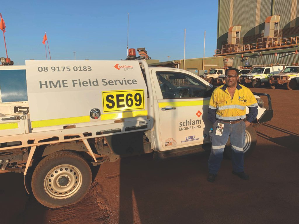 Willie Kanari starting his new job as a Field Service Auto Electrician with Schlam